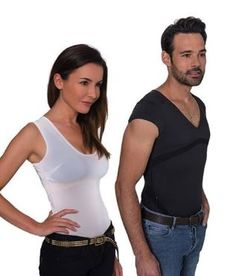 The Percko is an undershirt lined with tensors in the shape of your back with a good posture in mind. If you hunch, slouch or move in any way that's bad for your back, Percko gives you a slight guidance in the correct direction, letting you know you've got to re-adjust. The underwear is slim and has a cool design - and is comfortable to wear.