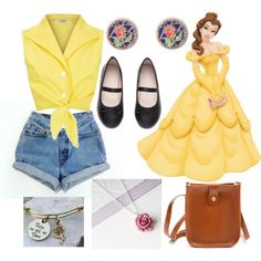 bound Belle A fashion look from May 2017 featuring Disney earrings. Browse and shop related looks.A fashion look from May 2017 featuring Disney earrings. Browse and shop related looks. Disney Bound Outfits Casual, Cute Disney Outfits, Disney World Outfits, Disney Themed Outfits, Disneyland Outfits, Disney Dresses, Modern Disney Outfits, Disney Clothes, Princess Inspired Outfits