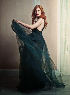 Jessica Chastain for Harper's Bazaar UK by David Slijper (November 2014)