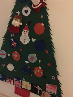 Árvore de Natal de feltro para bebês e crianças Felt tree Christmas