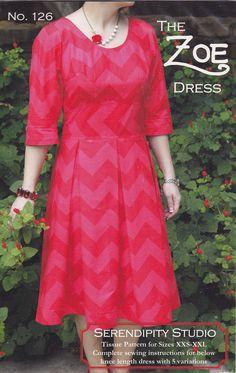 Serendipity Studio Zoe Dress Sewing Pattern Sizes XXS XXL | eBay