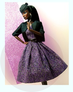 High-style Barbie. (hope that's not a cigarette in her hand!).