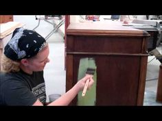 Miss Mustard Seed: Applying the First Coat of Milk Paint (Tutorial)