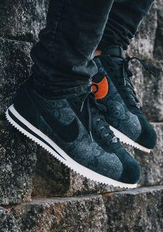 Nike Cortez Basic Premium QS 'Black/Black-Sail' (via Kicks-daily.com)