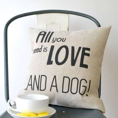 'All You Need Is..' Cushion Cover