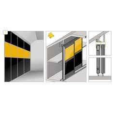Sistem de glisare Sloping 2, incarcare 50 kg | MatHaus by Arabesque Arabesque, Lockers, Locker Storage, 50th, Divider, Cabinet, Room, Furniture, Home Decor