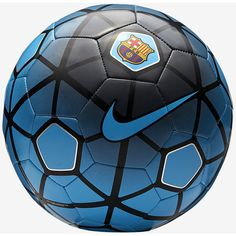 FC Barcelona Supporters Soccer Ball. Nike.com (77 BRL) ❤ liked on Polyvore featuring soccer and sport