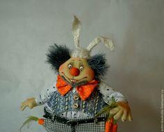 Купить Я твой ЗАЙ! Авторская текстильная кукла. - серый, заяц, кукла, авторская кукла