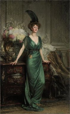 Portrait of the Hon. Mrs Ernest Guinness, 1912, by Sir Frank Bernard Dicksee #1910s