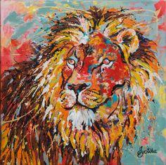 Majestic Lion 24x24 Acrylic