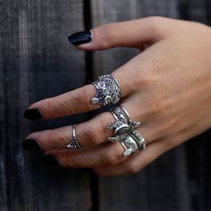✣✟✣ Killing Moon The Second Coming ✣✟✣ Shop ⇢⇢ www.shopdixi.com ⇢⇢ // shop dixi // boho // bohemian // gothic // grunge // witchy // witchy // boho jewels // boho chic // bohemian jewellery // bohemian jewelry // silver rings // sterling silver // gyp