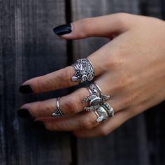 ✣✟✣  Killing Moon The Second Coming  ✣✟✣  Shop ⇢⇢ www.shopdixi.com ⇢⇢ // shop dixi // boho // bohemian // gothic // grunge // witchy // witchy // boho jewels // boho chic // bohemian jewellery // bohemian jewelry // silver rings // sterling silver // gyp