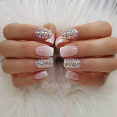 Try some of these designs and give your nails a quick makeover, gallery of unique nail art designs for any season. The best images and creative ideas for your nails. Frensh Nails, Nude Nails, Manicures, Hair And Nails, Gel Ombre Nails, Matte Gel Nails, Acrylic Nails Coffin Glitter, Pastel Nails, Nail Polish