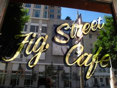 Fig Street Cafe- love the gilded window signs Moss Grafitti, Coffee Chalkboard, Window Signage, Coffee Latte Art, Window Plants, Old Pub, Signwriting, Sign Painting, Clipart Black And White