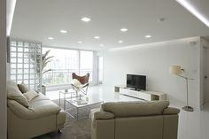 한샘리하우스 : 토탈 홈인테리어 리모델링의 모든 것 Interior Design Living Room, Interior Decorating, Glass Blocks, Decoration, My Dream Home, Beach House, Chair, Architecture, Furniture