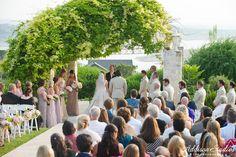 Gazebo Wedding Ceremony   Vintage Villas   Addison Studios   Flowers by Cathy Shay