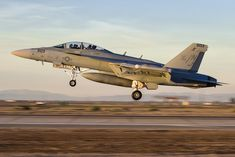 https://flic.kr/p/23D3JwD   BOUNCING BEAR   EA-18G 'Grizzly' from VAQ-129 lifting off after a touch-and-go during field carrier landing practice at NAF El Centro.