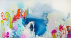 """""""Spring into Action"""" by Claire Desjardins (2015). 24""""x44"""" - Acrylics on canvas."""
