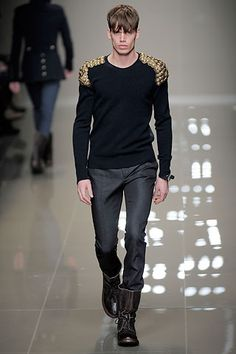 Wool Pullover with Military Epaulettes from Burberry Prorsum Fall 2010 Menswear collection
