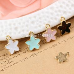 jewelry charms Picture - More Detailed Picture about Free Fhipping Fashion Cute Cute Star Jewelry Charms 10pcs Drop Oil Bracelet 14x11mm 4 Pastel Colors Star Shape Charms Picture in Charms from Classical Jewelry Wholesale | Aliexpress.com | Alibaba Group