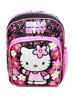 Mini Backpack Hello Kitty Flowers Black  gt  gt  gt  You can get additional 534b458877144