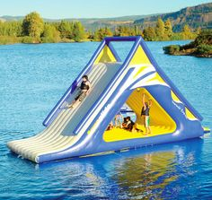 A massive, inflatable water slide able to keep everyone entertained for days.   19 Things You'll Definitely Want For The Lake This Summer