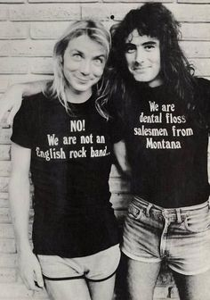 Iron Maiden, young and fresh faced Dave Murray and Steve Harris (the only founder member still remaining in the band).