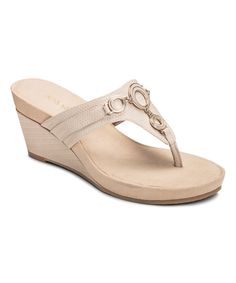 Look at this Aerosoles Bone Flashlight Wedge Sandal on #zulily today!