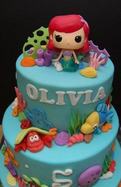 Olivia's Ariel Cake. Please check out my website thanks. www.photopix.co.nz