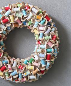 Mini Spool Wreath