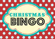 Chistmas Bingo- game idea for before gifts to keep the kids from going crazy!