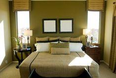 Oro y negro interior | Los tonos más utilizados para el dormitorio son verde olivo, verde ...