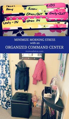 Get ready for back to school and minimize morning stress with an organized command center from MomAdvice.com