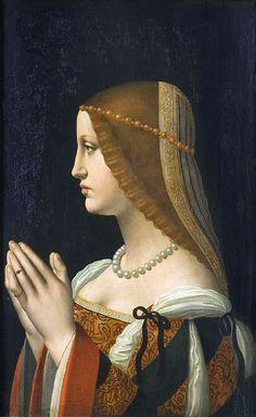 Bianca Sforza, illigitimate daughter of Lodovico Il Moro 1500
