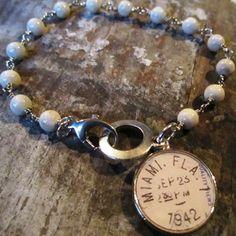 Susabelle Boutique - Vintage Postmark Charm Bracelet-other cities available -