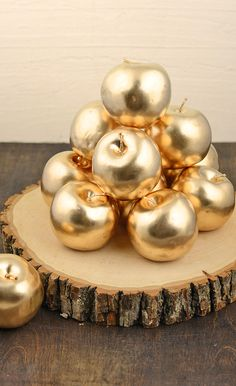 Gold fruit! Add a little bling to your wedding or party