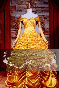 Cosplay Costume, Beauty and the Beast , Princess Belle Dress Anime Show Dress Top Quality CCF0271 on AliExpress.com. $125.99