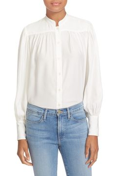 Main Image - FRAME Silk Blouse