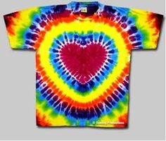 how to do a heart tie dye