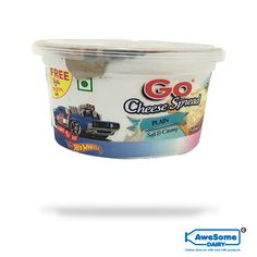 GO: 'Go' is derived from Gowardhan which means 'cow' GO cheese spread: Go cheese spread is a plain and unflavoured cheese spread. it is soft and creamy. It can be used on bread or as a dip. Net content of the pack is Go Cheese, Cheese Spread, Cheese Online, Dip, Bread, Content, Salsa, Brot, Baking