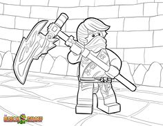 LEGO Ninjago Coloring Page, LEGO LEGO Ninjago Cole Tournament Of Elements  Printable Color Sheet