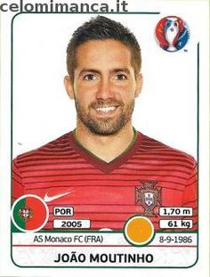 UEFA EURO 2016™ Official Sticker Album: Fronte Figurina n. 589 João Moutinho