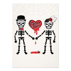 "Love this!!! Love never dies is our wedding theme! - ""Love Never Dies"" Halloween Wedding Invitation"