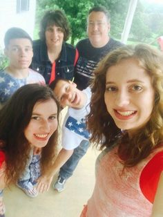 #On 4th of July# with family. # having a great time.