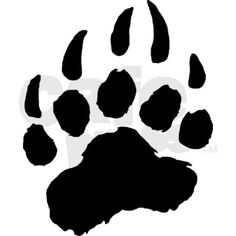 Stencil bear wolf dog cat paw print tracks cabin signs for Bear footprints template
