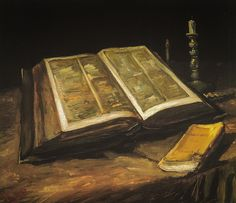 Vincent van Gogh - Still Life with Bible, 1885 at Van Gogh Museum Amsterdam Netherlands   by mbell1975