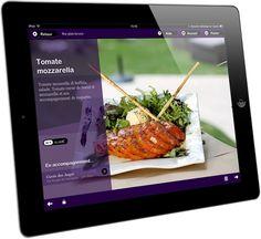 Restaurant menus on iPad.