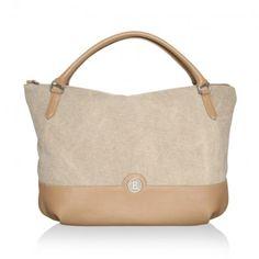 Bogner Tasche – Bella Vita Canvas Aneta Sand – in beige – Henkeltasche für Damen