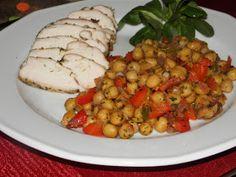 Chana Masala, Ethnic Recipes, Food, Gourmet, Red Peppers, Essen, Meals, Yemek, Eten
