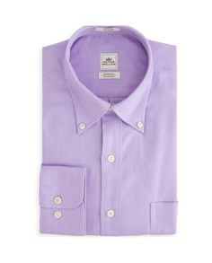 Peter Millar | Nanoluxe Royal Oxford Sport Shirt in Lilac